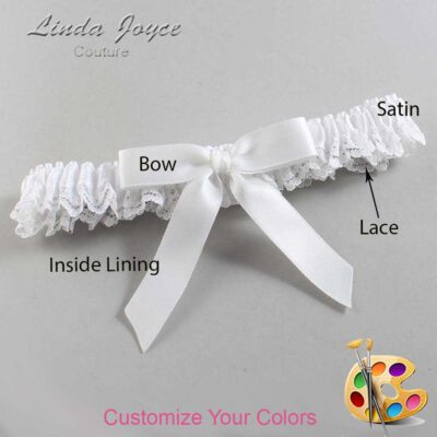 Couture Garters / Custom Wedding Garter / Customizable Wedding Garters / Personalized Wedding Garters / Paulette #09-B03-00 / Wedding Garters / Bridal Garter / Prom Garter / Linda Joyce Couture