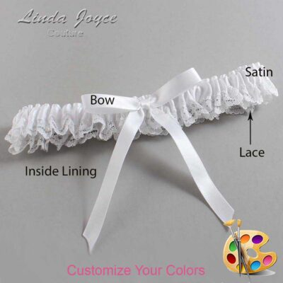 Couture Garters / Custom Wedding Garter / Customizable Wedding Garters / Personalized Wedding Garters / Alberta #09-B04-00 / Wedding Garters / Bridal Garter / Prom Garter / Linda Joyce Couture