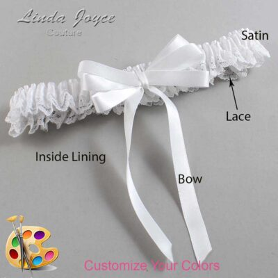 Couture Garters / Custom Wedding Garter / Customizable Wedding Garters / Personalized Wedding Garters / Sabina #09-B12-00 / Wedding Garters / Bridal Garter / Prom Garter / Linda Joyce Couture