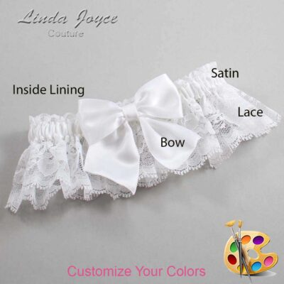 Couture Garters / Custom Wedding Garter / Customizable Wedding Garters / Personalized Wedding Garters / Kimberly #10-B01-00 / Wedding Garters / Bridal Garter / Prom Garter / Linda Joyce Couture
