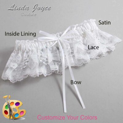 Couture Garters / Custom Wedding Garter / Customizable Wedding Garters / Personalized Wedding Garters / Madie #10-B10-00 / Wedding Garters / Bridal Garter / Prom Garter / Linda Joyce Couture