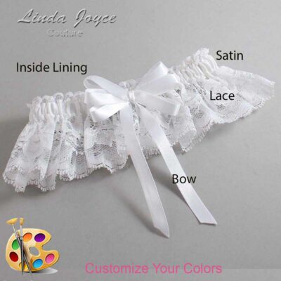 Couture Garters / Custom Wedding Garter / Customizable Wedding Garters / Personalized Wedding Garters / Sabina #10-B12-00 / Wedding Garters / Bridal Garter / Prom Garter / Linda Joyce Couture