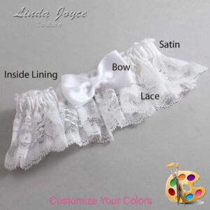 Couture Garters / Custom Wedding Garter / Customizable Wedding Garters / Personalized Wedding Garters / Justine #10-B29-00 / Wedding Garters / Bridal Garter / Prom Garter / Linda Joyce Couture