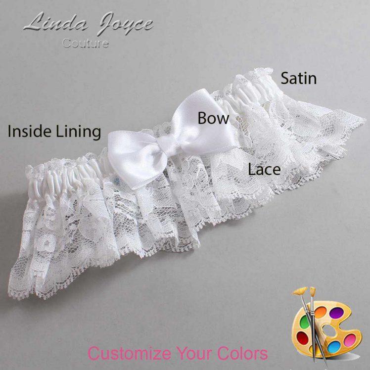 Couture Garters / Custom Wedding Garter / Customizable Wedding Garters / Personalized Wedding Garters / Justine #10-B29-00 / Wedding Garters / Bridal Garter / Prom Garter / Linda Joyce Couture