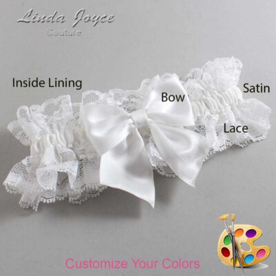 Couture Garters / Custom Wedding Garter / Customizable Wedding Garters / Personalized Wedding Garters / Kimberly #11-B01-00 / Wedding Garters / Bridal Garter / Prom Garter / Linda Joyce Couture
