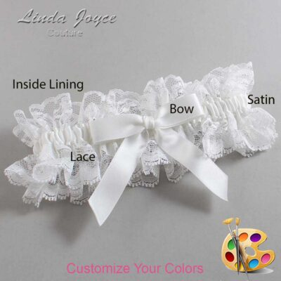 Couture Garters / Custom Wedding Garter / Customizable Wedding Garters / Personalized Wedding Garters / Paulette #11-B03-00 / Wedding Garters / Bridal Garter / Prom Garter / Linda Joyce Couture