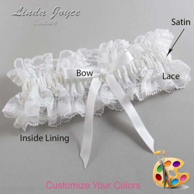 Couture Garters / Custom Wedding Garter / Customizable Wedding Garters / Personalized Wedding Garters / Alberta #11-B04-00 / Wedding Garters / Bridal Garter / Prom Garter / Linda Joyce Couture