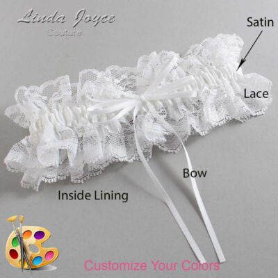Couture Garters / Custom Wedding Garter / Customizable Wedding Garters / Personalized Wedding Garters / Madie #11-B10-00 / Wedding Garters / Bridal Garter / Prom Garter / Linda Joyce Couture