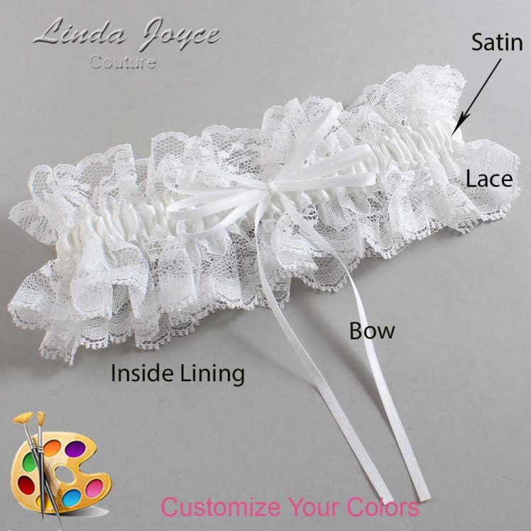 Couture Garters / Custom Wedding Garter / Customizable Wedding Garters / Personalized Wedding Garters / Madie #11-B10-00 / Wedding Garters / Bridal Garter / Prom Garter / Linda Joyce Couture