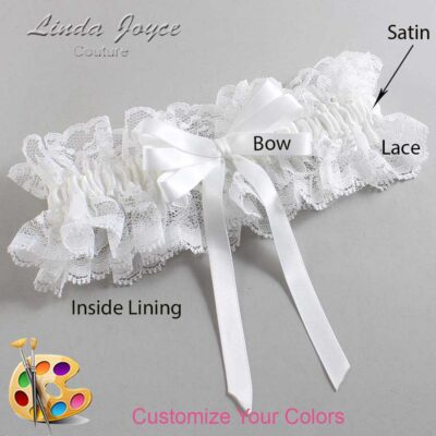 Couture Garters / Custom Wedding Garter / Customizable Wedding Garters / Personalized Wedding Garters / Sabina #11-B12-00 / Wedding Garters / Bridal Garter / Prom Garter / Linda Joyce Couture