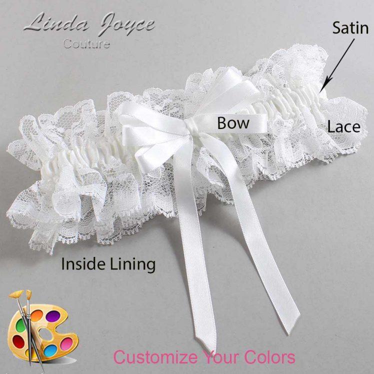 Couture Garters / Custom Wedding Garter / Customizable Wedding Garters / Personalized Wedding Garters / Sabina #11-B12-00 / Wedding Garters / Bridal Garter / Prom Garter / Linda Joyce Couture