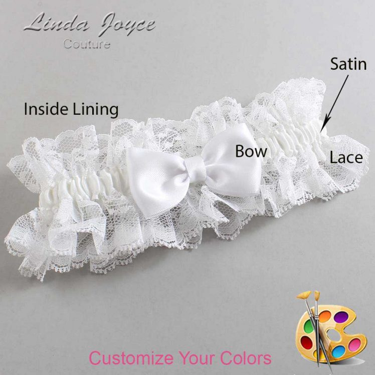Couture Garters / Custom Wedding Garter / Customizable Wedding Garters / Personalized Wedding Garters / Justine #11-B29-00 / Wedding Garters / Bridal Garter / Prom Garter / Linda Joyce Couture