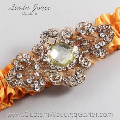 Gold and Brown Wedding Garter / Gold Wedding Garters / Bijou #01-A01-675-Gold_Antique / Wedding Garters / Custom Wedding Garters / Bridal Garter / Prom Garter / Linda Joyce Couture