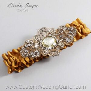 Topaz and Brown Wedding Garter / Gold Wedding Garters / Bijou #01-A01-783-Topaz_Antique / Wedding Garters / Custom Wedding Garters / Bridal Garter / Prom Garter / Linda Joyce Couture
