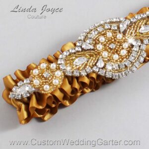 Topaz and Gold Wedding Garter / Gold Wedding Garters / Charlotte #01-A05-783-Topaz_Gold / Wedding Garters / Custom Wedding Garters / Bridal Garter / Prom Garter / Linda Joyce Couture