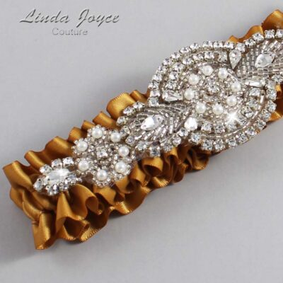 Topaz Wedding Garter / Gold Wedding Garters / Charlotte #01-A06-783-Topaz_Silver / Wedding Garters / Custom Wedding Garters / Bridal Garter / Prom Garter / Linda Joyce Couture
