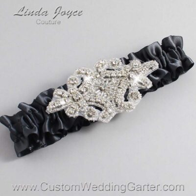 Gray Wedding Garter / Heather #01-A07-077-Charcoal_Silver
