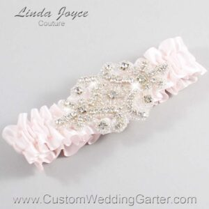 Sideshow Rose Wedding Garter / Pink Wedding Garters / Heather #01-A07-105-Sideshow-Rose_Silver / Wedding Garters / Custom Wedding Garters / Bridal Garter / Prom Garter / Linda Joyce Couture