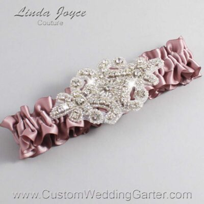 Cameo Wedding Garter / Pink Wedding Garters / Heather #01-A07-146-Cameo_Silver / Wedding Garters / Custom Wedding Garters / Bridal Garter / Prom Garter / Linda Joyce Couture