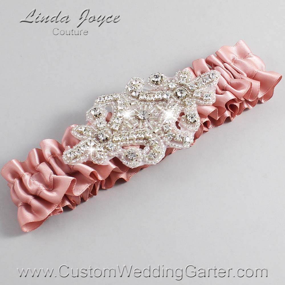 Sweet Nectar Wedding Garter / Orange Wedding Garters / Heather #01-A07-161-Sweet-Nectar_Silver / Wedding Garters / Custom Wedding Garters / Bridal Garter / Prom Garter / Linda Joyce Couture