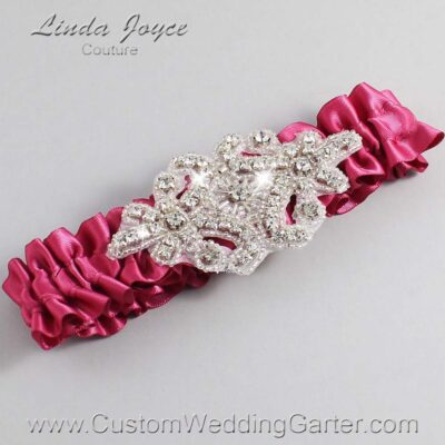 Rosewood Wedding Garter / Pink Wedding Garters / Heather #01-A07-169-Rosewood_Silver / Wedding Garters / Custom Wedding Garters / Bridal Garter / Prom Garter / Linda Joyce Couture