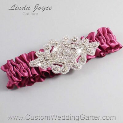 Victorian Rose Wedding Garter / Pink Wedding Garters / Heather #01-A07-174-Victorian-Rose_Silver / Wedding Garters / Custom Wedding Garters / Bridal Garter / Prom Garter / Linda Joyce Couture