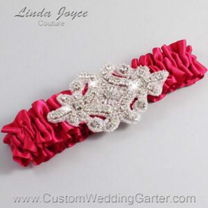 Beauty Wedding Garter / Pink Wedding Garters / Heather #01-A07-266-Beauty_Silver / Wedding Garters / Custom Wedding Garters / Bridal Garter / Prom Garter / Linda Joyce Couture