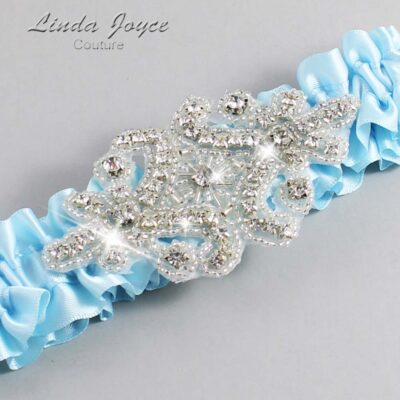 Alice Blue Wedding Garter / Blue Wedding Garters / Heather #01-A07-305-Alice-Blue_Silver / Wedding Garters / Custom Wedding Garters / Bridal Garter / Prom Garter / Linda Joyce Couture