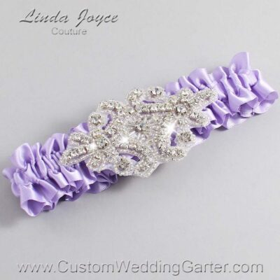 Lavender Wedding Garter / Purple Wedding Garters / Heather #01-A07-430-Lavender_Silver / Wedding Garters / Custom Wedding Garters / Bridal Garter / Prom Garter / Linda Joyce Couture