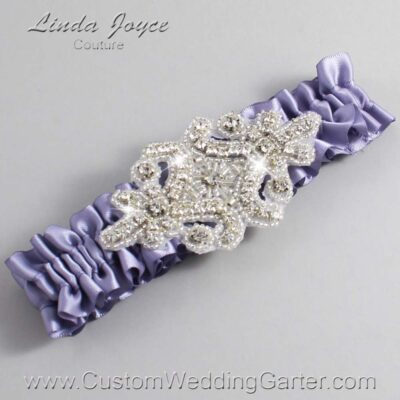 Thistle Wedding Garter / Purple Wedding Garters / Heather #01-A07-435-Thistle_Silver / Wedding Garters / Custom Wedding Garters / Bridal Garter / Prom Garter / Linda Joyce Couture