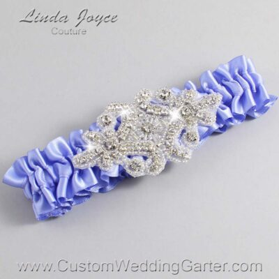 Iris Wedding Garter / Purple Wedding Garters / Heather #01-A07-447-Iris_Silver / Wedding Garters / Custom Wedding Garters / Bridal Garter / Prom Garter / Linda Joyce Couture