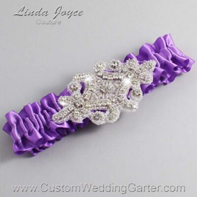 Grape Wedding Garter / Purple Wedding Garters / Heather #01-A07-463-Grape_Silver / Wedding Garters / Custom Wedding Garters / Bridal Garter / Prom Garter / Linda Joyce Couture