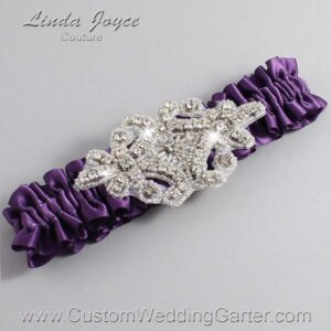 Amethyst Wedding Garter / Purple Wedding Garters / Heather #01-A07-473-Amethyst_Silver / Wedding Garters / Custom Wedding Garters / Bridal Garter / Prom Garter / Linda Joyce Couture