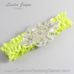 Pineapple Wedding Garter / Yellow Wedding Garters / Heather #01-A07-625-Pineapple_Silver / Wedding Garters / Custom Wedding Garters / Bridal Garter / Prom Garter / Linda Joyce Couture