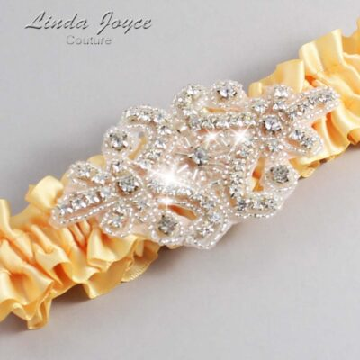 Buttercup Wedding Garter / Yellow Wedding Garters / Heather #01-A07-644-Buttercup_Silver / Wedding Garters / Custom Wedding Garters / Bridal Garter / Prom Garter / Linda Joyce Couture