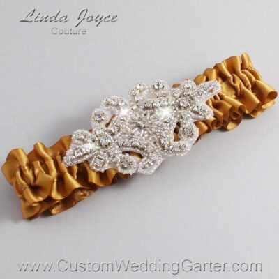 Topaz Wedding Garter / Gold Wedding Garters / Heather #01-A07-783-Topaz_Silver / Wedding Garters / Custom Wedding Garters / Bridal Garter / Prom Garter / Linda Joyce Couture