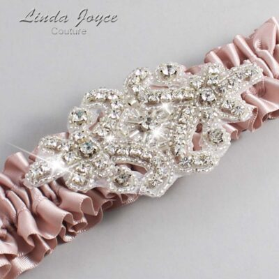 Vanilla Wedding Garter / Pink Wedding Garters / Heather #01-A07-813-Vanilla_Silver / Wedding Garters / Custom Wedding Garters / Bridal Garter / Prom Garter / Linda Joyce Couture