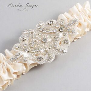 Antique White Wedding Garter / Ivory Wedding Garters / Heather #01-A07-860-Antique-White_Silver / Wedding Garters / Custom Wedding Garters / Bridal Garter / Prom Garter / Linda Joyce Couture