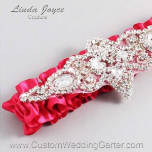 (Satin_Color_Name) Wedding Garter / Pink Wedding Garters / Lorine #01-A09-157-Camellia-Rose_Silver / Wedding Garters / Custom Wedding Garters / Bridal Garter / Prom Garter / Linda Joyce Couture