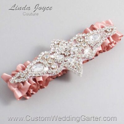 Sweet Nectar Wedding Garter / Orange Wedding Garters / Lorine #01-A09-161-Sweet-Nectar_Silver / Wedding Garters / Custom Wedding Garters / Bridal Garter / Prom Garter / Linda Joyce Couture