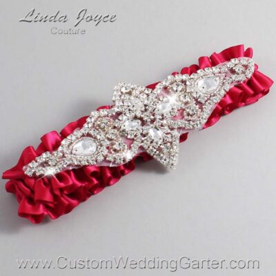 Beauty Wedding Garter / Pink Wedding Garters / Lorine #01-A09-266-Beauty_Silver / Wedding Garters / Custom Wedding Garters / Bridal Garter / Prom Garter / Linda Joyce Couture