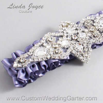 Thistle Wedding Garter / Purple Wedding Garters / Lorine #01-A09-435-Thistle_Silver / Wedding Garters / Custom Wedding Garters / Bridal Garter / Prom Garter / Linda Joyce Couture