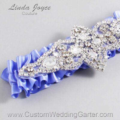 Iris Wedding Garter / Purple Wedding Garters / Lorine #01-A09-447-Iris_Silver / Wedding Garters / Custom Wedding Garters / Bridal Garter / Prom Garter / Linda Joyce Couture