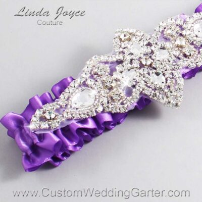 Grape Wedding Garter / Purple Wedding Garters / Lorine #01-A09-463-Grape_Silver / Wedding Garters / Custom Wedding Garters / Bridal Garter / Prom Garter / Linda Joyce Couture