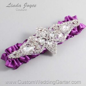 Helio Wedding Garter / Purple Wedding Garters / Lorine #01-A09-541-Helio_Silver / Wedding Garters / Custom Wedding Garters / Bridal Garter / Prom Garter / Linda Joyce Couture
