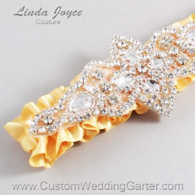 Buttercup Wedding Garter / Yellow Wedding Garters / Lorine #01-A09-644-Buttercup_Silver / Wedding Garters / Custom Wedding Garters / Bridal Garter / Prom Garter / Linda Joyce Couture