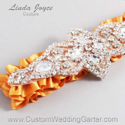 Gold Wedding Garter / Gold Wedding Garters / Lorine #01-A09-675-Gold_Silver / Wedding Garters / Custom Wedding Garters / Bridal Garter / Prom Garter / Linda Joyce Couture