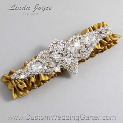 Dijon Wedding Garter / Gold Wedding Garters / Lorine #01-A09-687-Dijon_Silver / Wedding Garters / Custom Wedding Garters / Bridal Garter / Prom Garter / Linda Joyce Couture