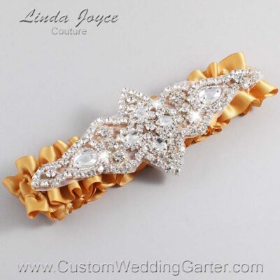 Old Gold Wedding Garter / Gold Wedding Garters / Lorine #01-A09-690-Old-Gold_Silver / Wedding Garters / Custom Wedding Garters / Bridal Garter / Prom Garter / Linda Joyce Couture