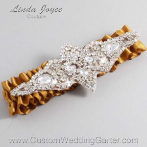 Topaz Wedding Garter / Gold Wedding Garters / Lorine #01-A09-783-Topaz_Silver / Wedding Garters / Custom Wedding Garters / Bridal Garter / Prom Garter / Linda Joyce Couture